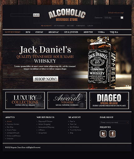 Alcoholic beverage store - Excellent Magento Drink Store Theme