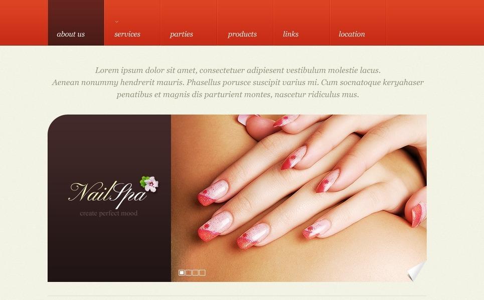 Nail Salon Website Template New Screenshots BIG