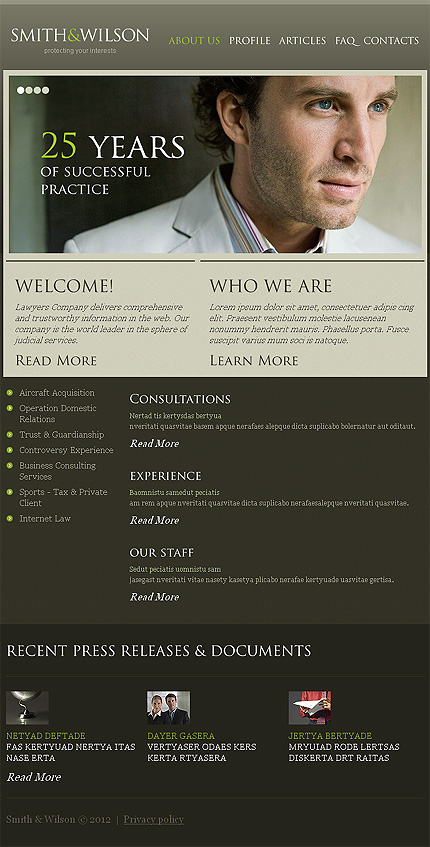 Website Template #38389