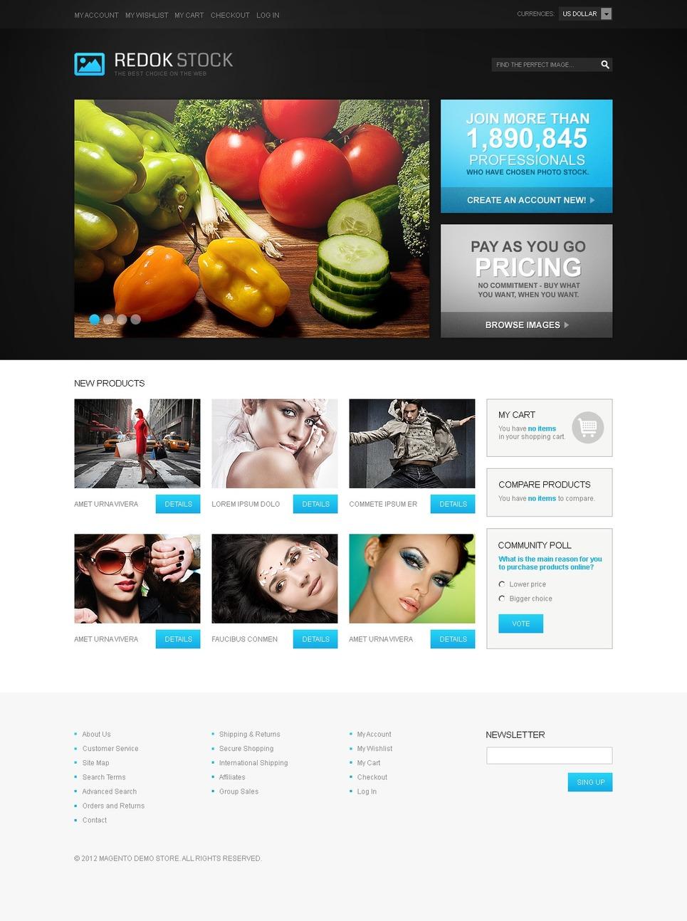 Stock Photo Magento Theme New Screenshots BIG