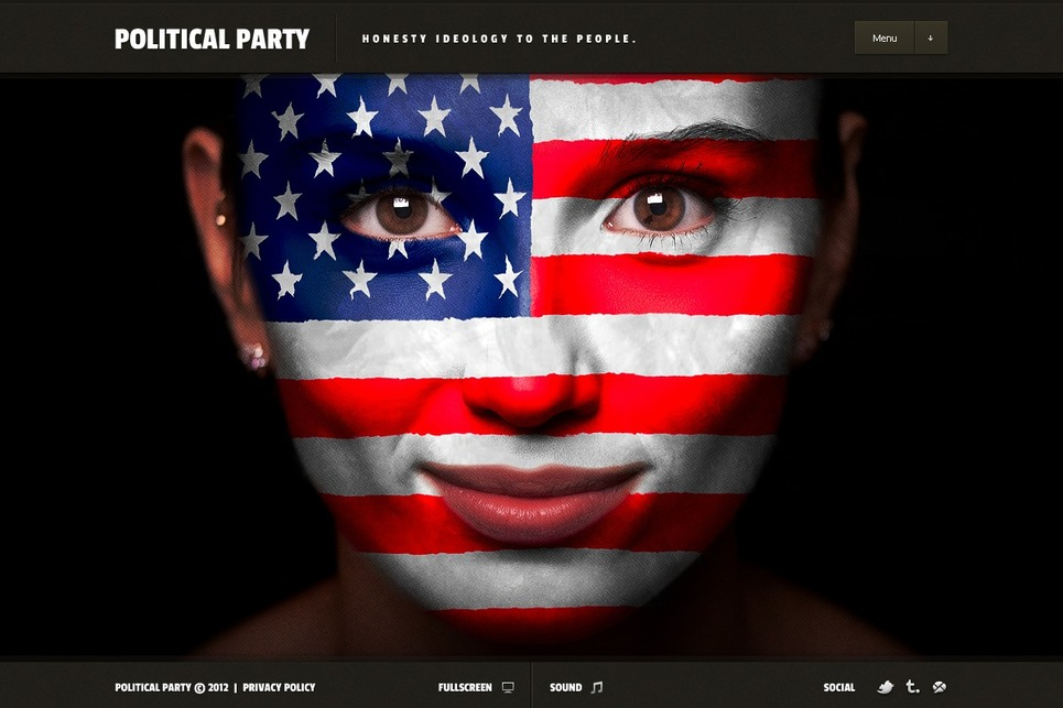 Political Party Flash Template New Screenshots BIG