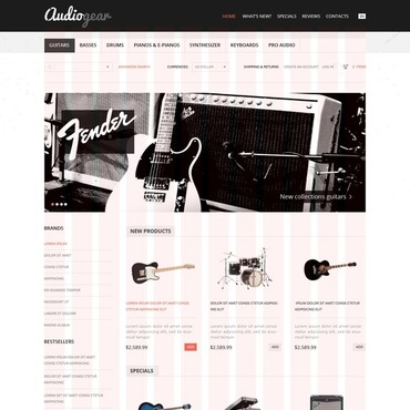 Audio Store OsCommerce Template