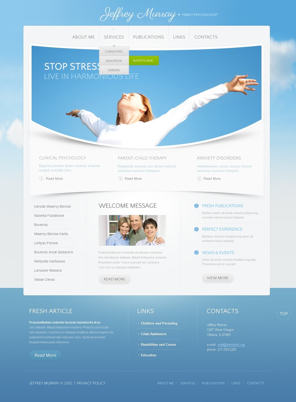 Psychologist Website Template New Screenshots BIG