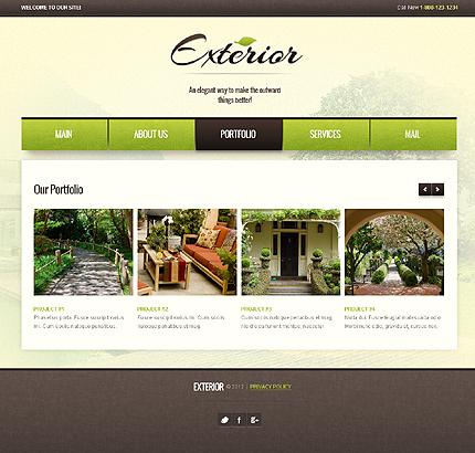 Exterior design website template page 2 photoshop screenshot for Exterior design templates