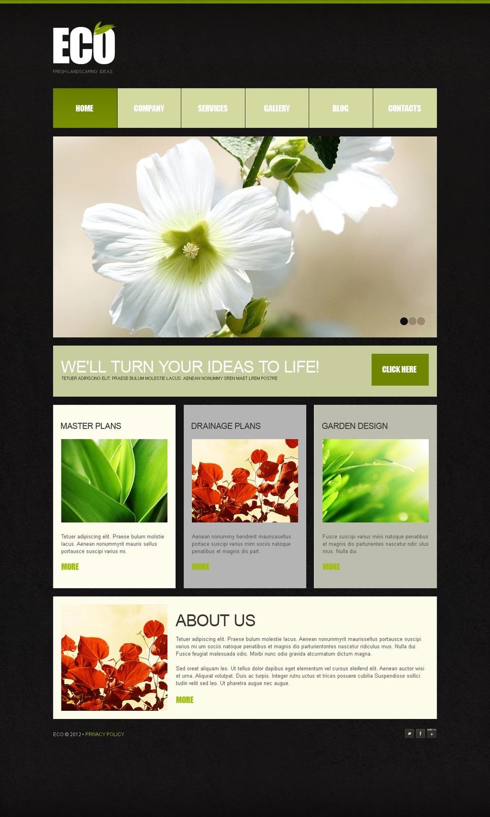Landscape design joomla template 38449 for Garden design questions