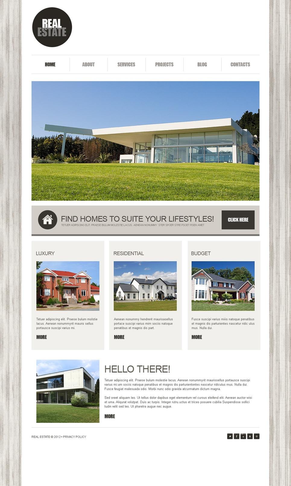 Real Estate Joomla Template New Screenshots BIG