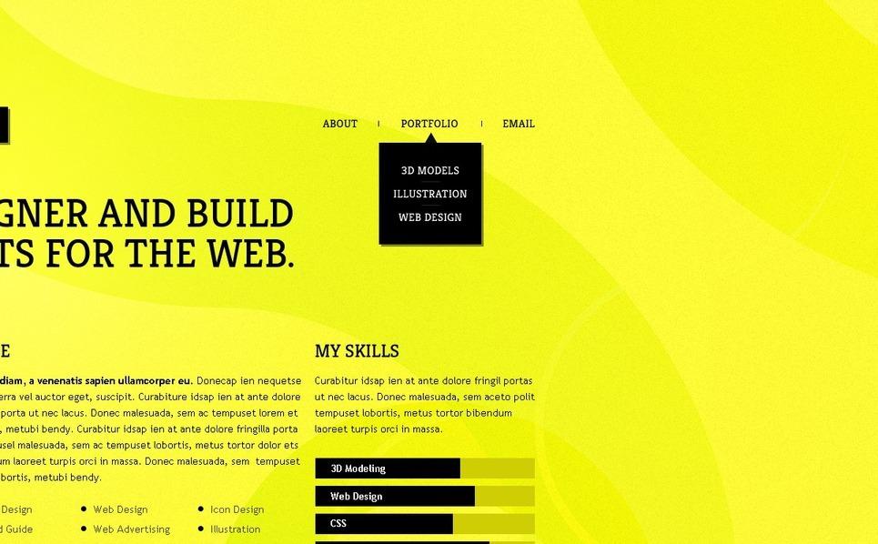 Designer Portfolio WordPress Theme New Screenshots BIG