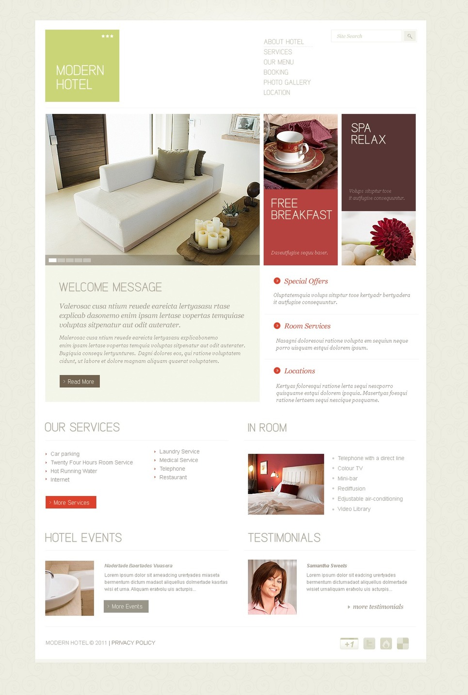 Hotels PSD Template New Screenshots BIG