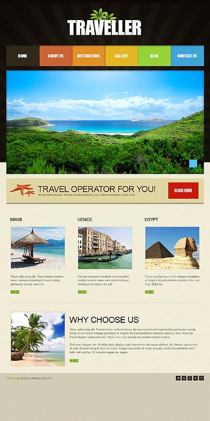 green travel agency joomla template by cowboy tmt fxtheme