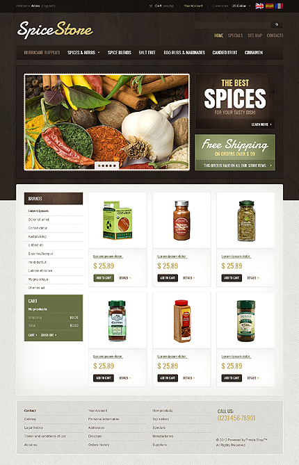 Spice store - The Best Spice Store PrestaShop Theme