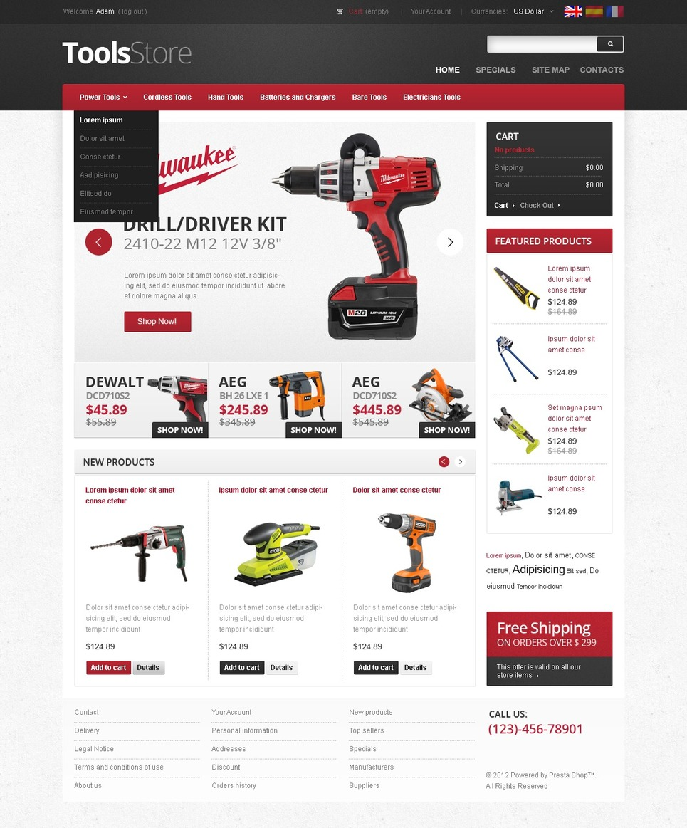 Ultimate Tools Store For Masters PrestaShop Theme