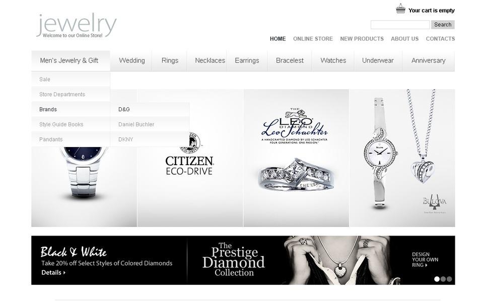 Glittering Jewelry Flash CMS Template New Screenshots BIG