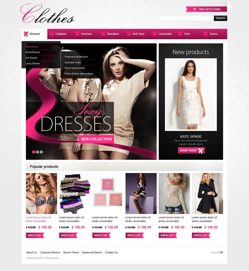 Fashionable Clothes Flash CMS Template New Screenshots BIG
