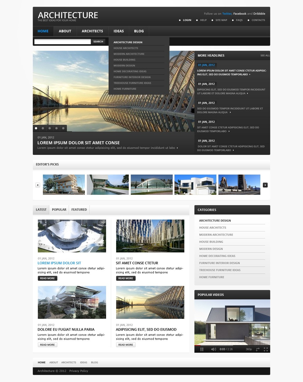 template for joomla 168 with architecture joomla template 38497