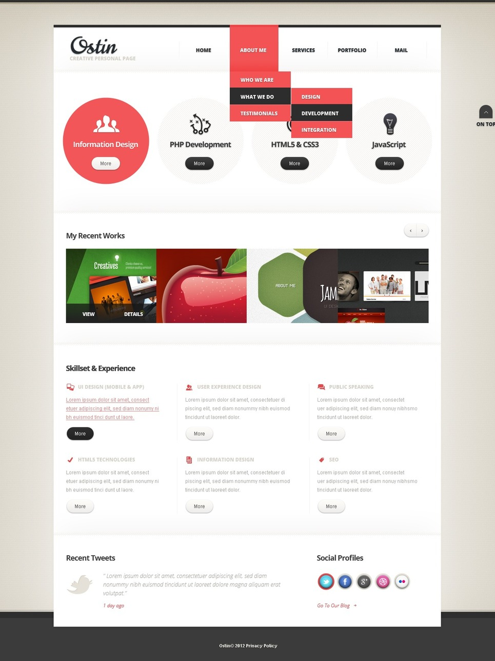 Designer Portfolio Responsive Website Template New Screenshots BIG