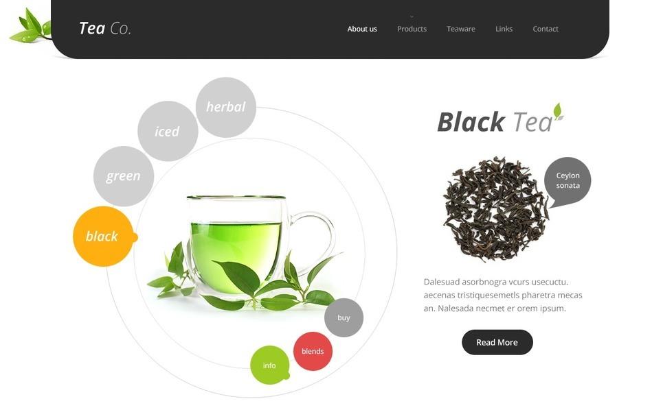 Tea Shop Website Template New Screenshots BIG