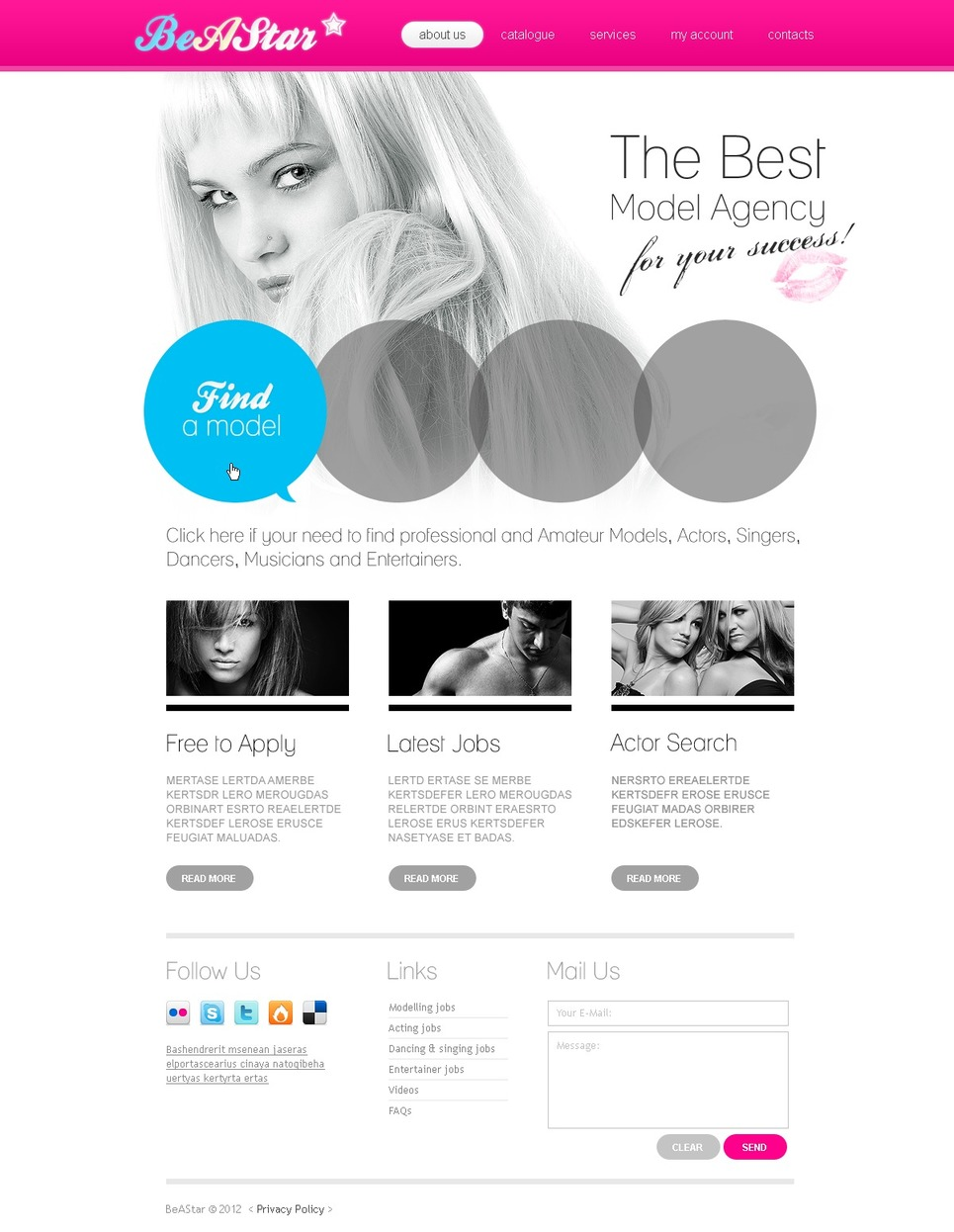 Model Agency Website Template New Screenshots BIG