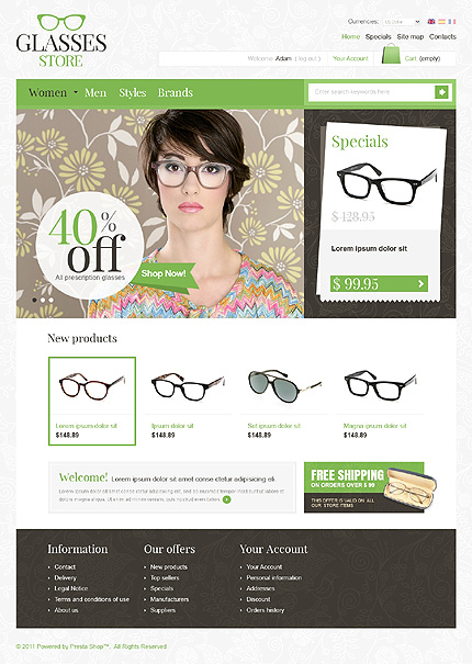 online glasses store  Top Class Magento Eye Glasses Store Themes - Platina Studio Blog