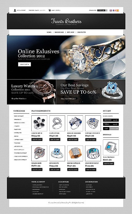Frants brothers - Blazing Online Jewellery Store PrestaShop Theme