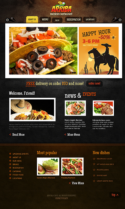 Website Template #38550