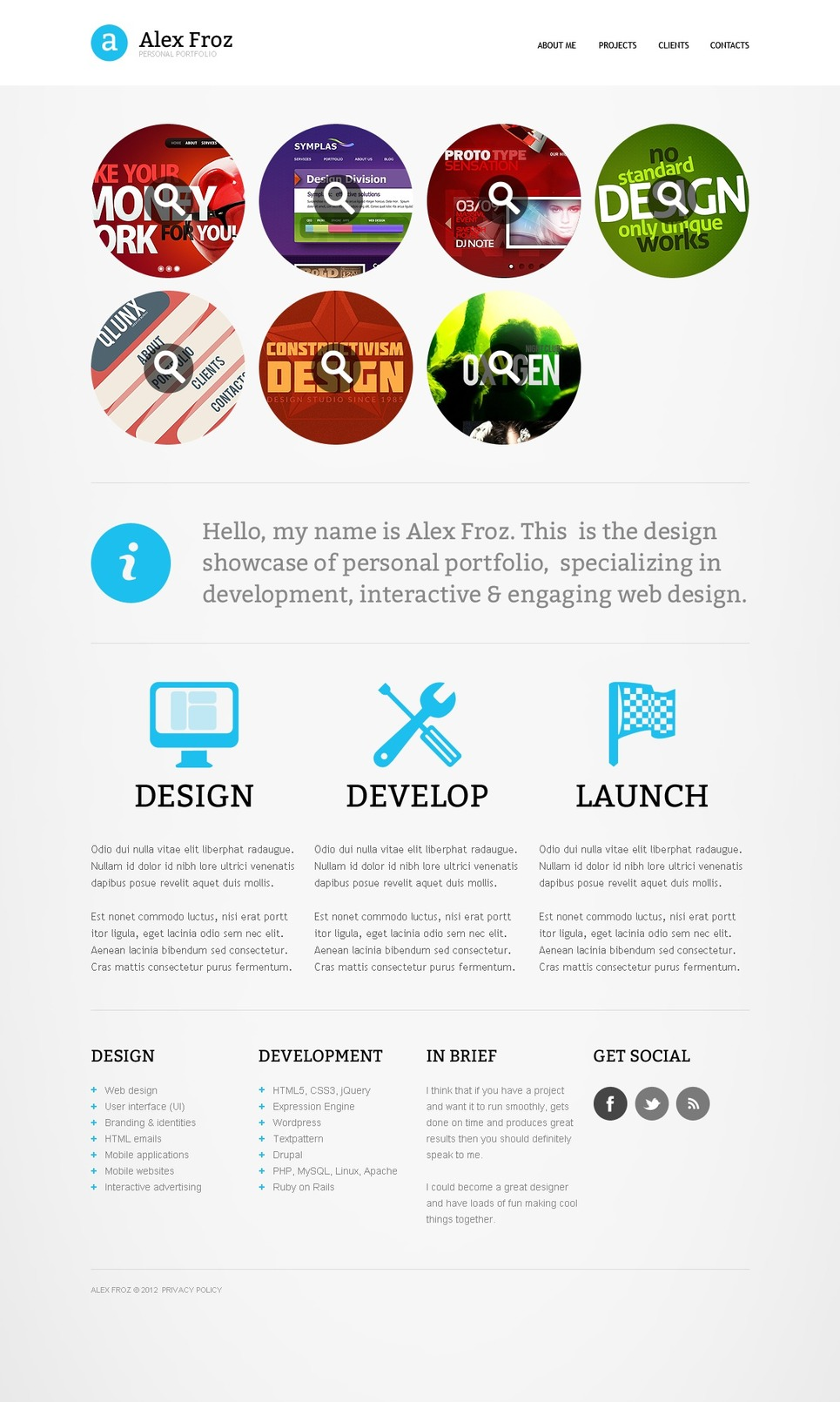 Designer Portfolio Website Template New Screenshots BIG