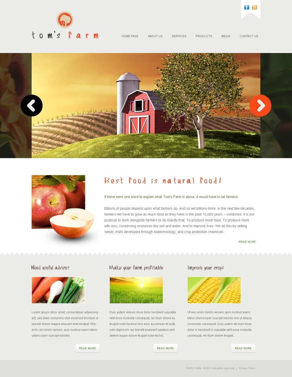Farm Website Template New Screenshots BIG