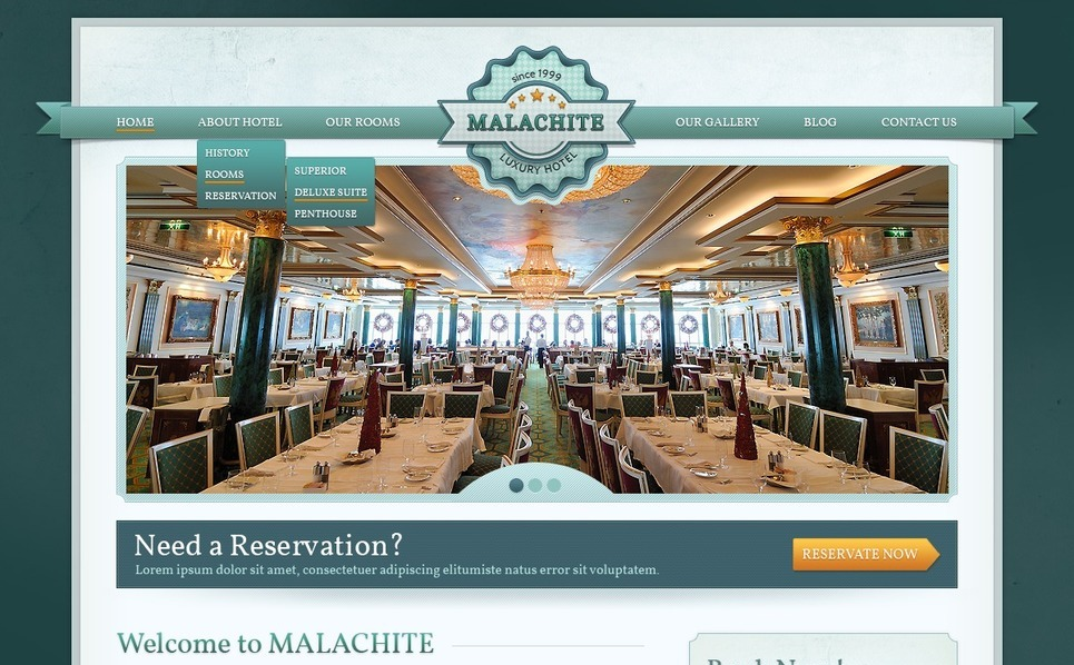 Hotels Drupal Template New Screenshots BIG