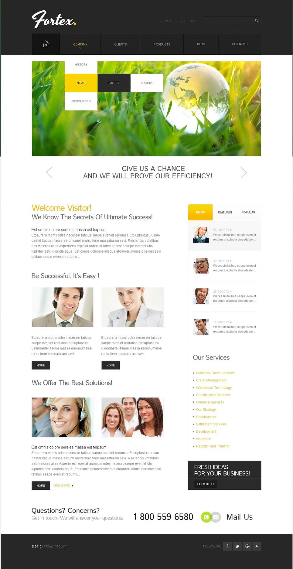 Investment Company Drupal Template New Screenshots BIG