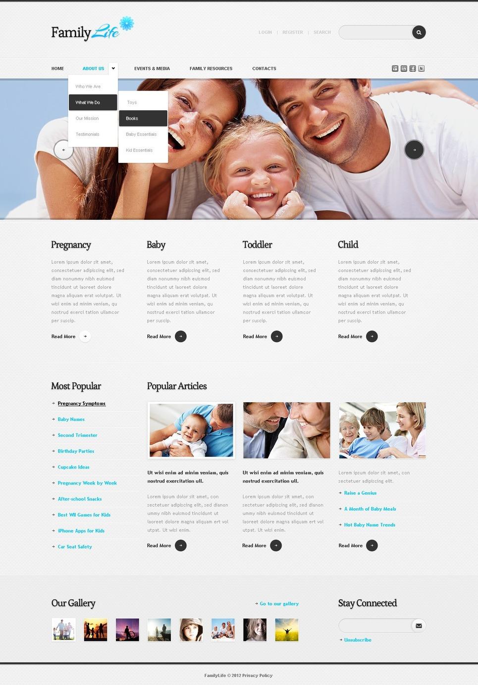 Family Center Drupal Template New Screenshots BIG