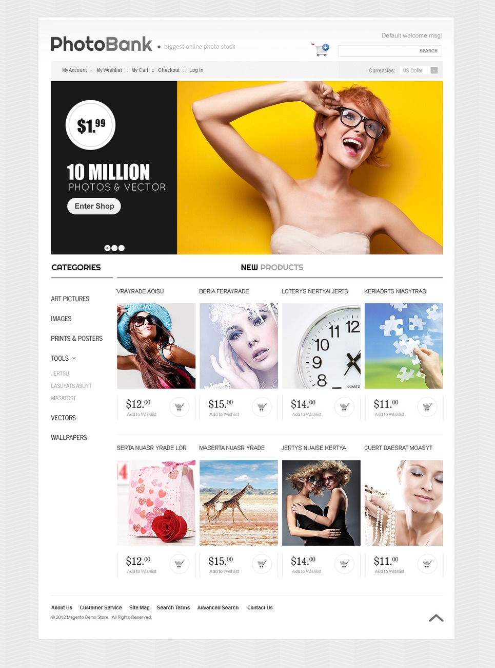 Awesome Photo Bank Magento Theme