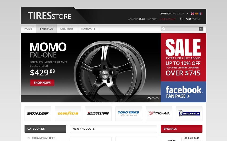 Cool Wheels & Tires PrestaShop Theme New Screenshots BIG