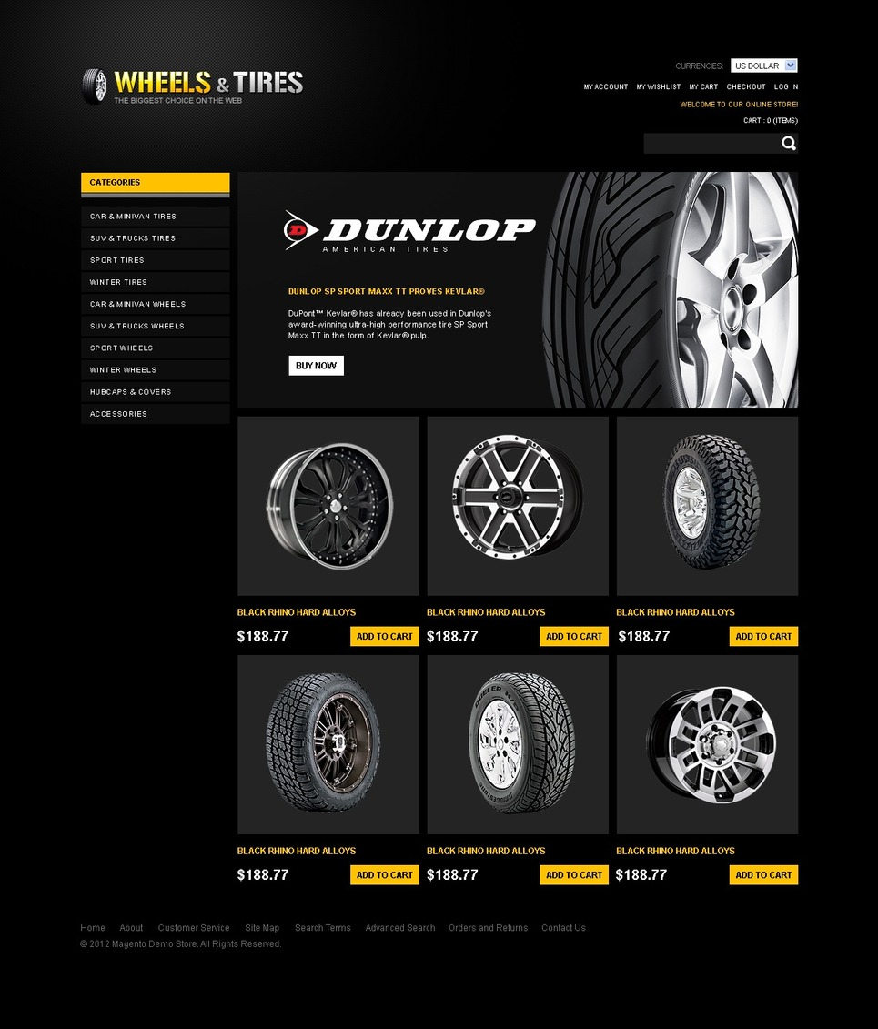 Speed Wheels Magento Theme New Screenshots BIG