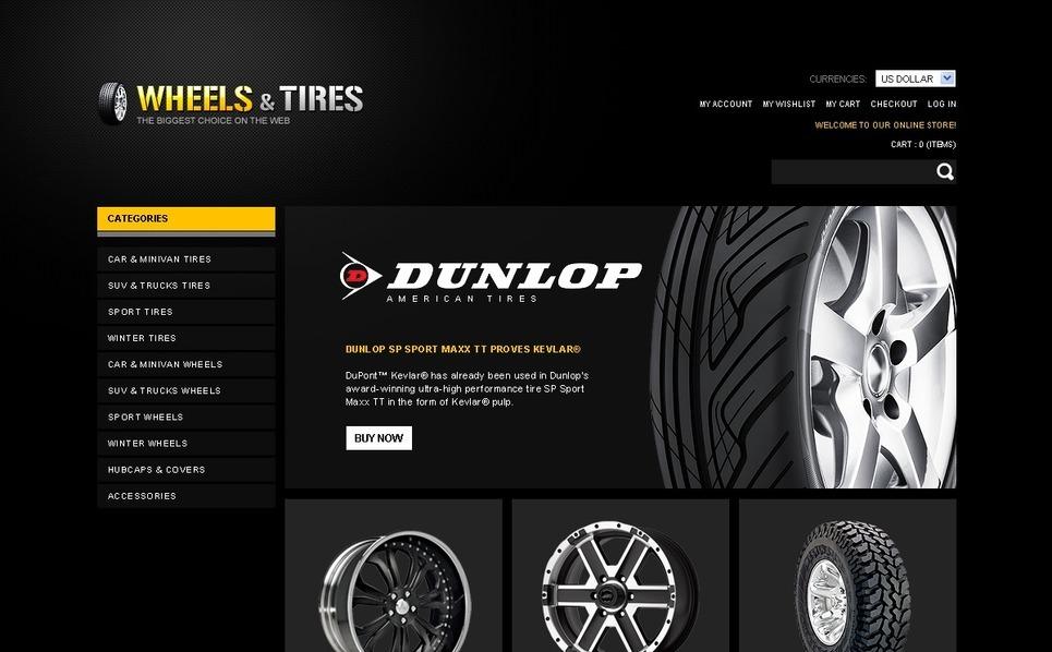 Speed Wheels Magento Theme New Screenshots BIG