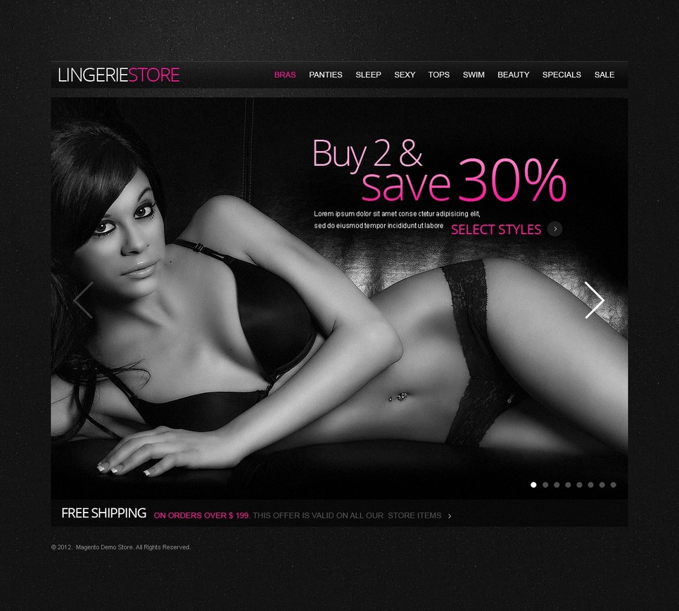 Sexy Lingerie Magento Theme New Screenshots BIG