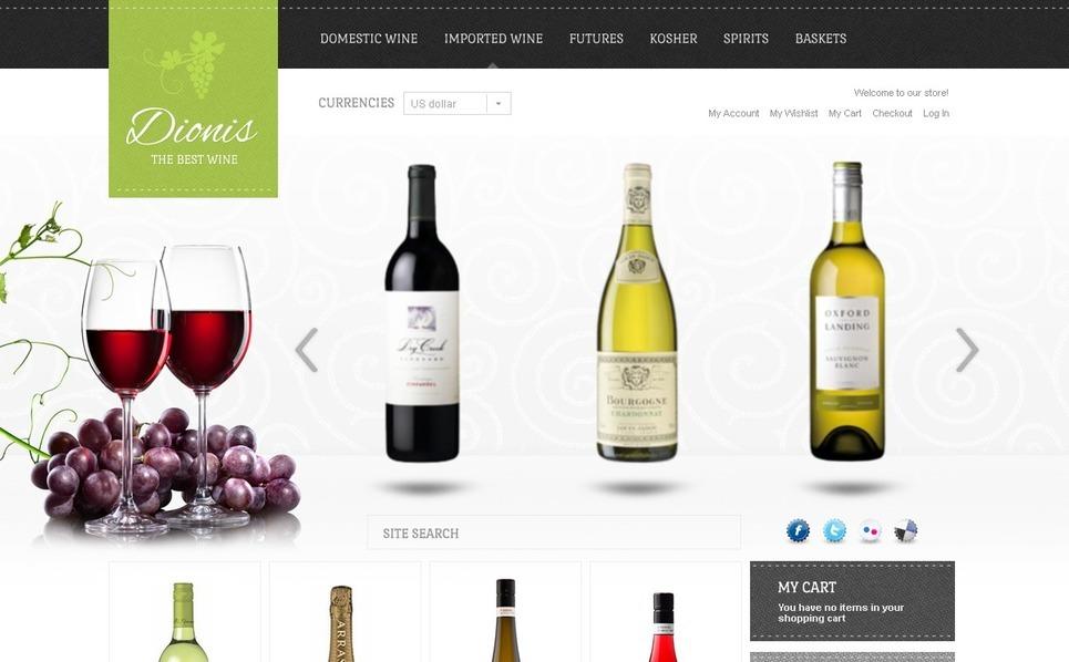 Wine Store Magento Theme New Screenshots BIG