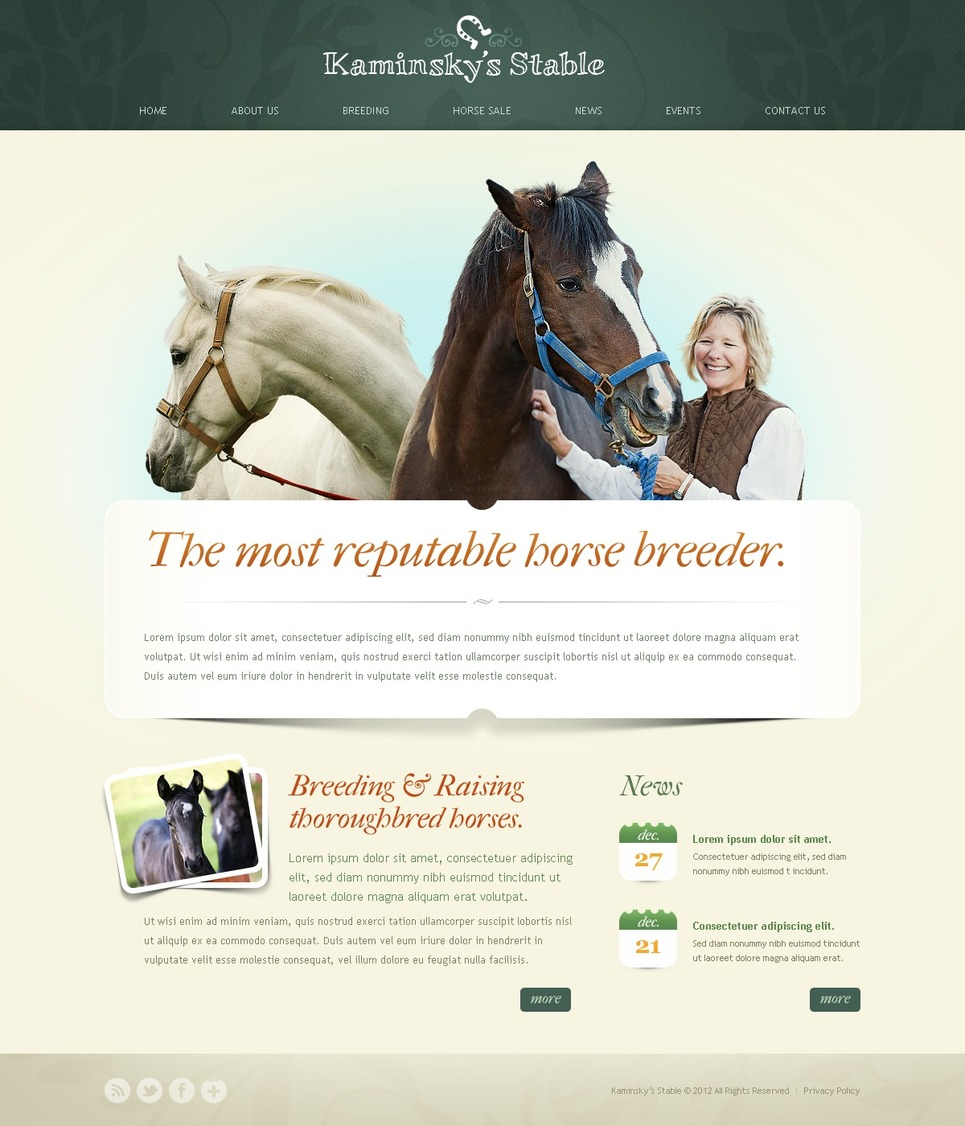 Horse Racing Website Template New Screenshots BIG
