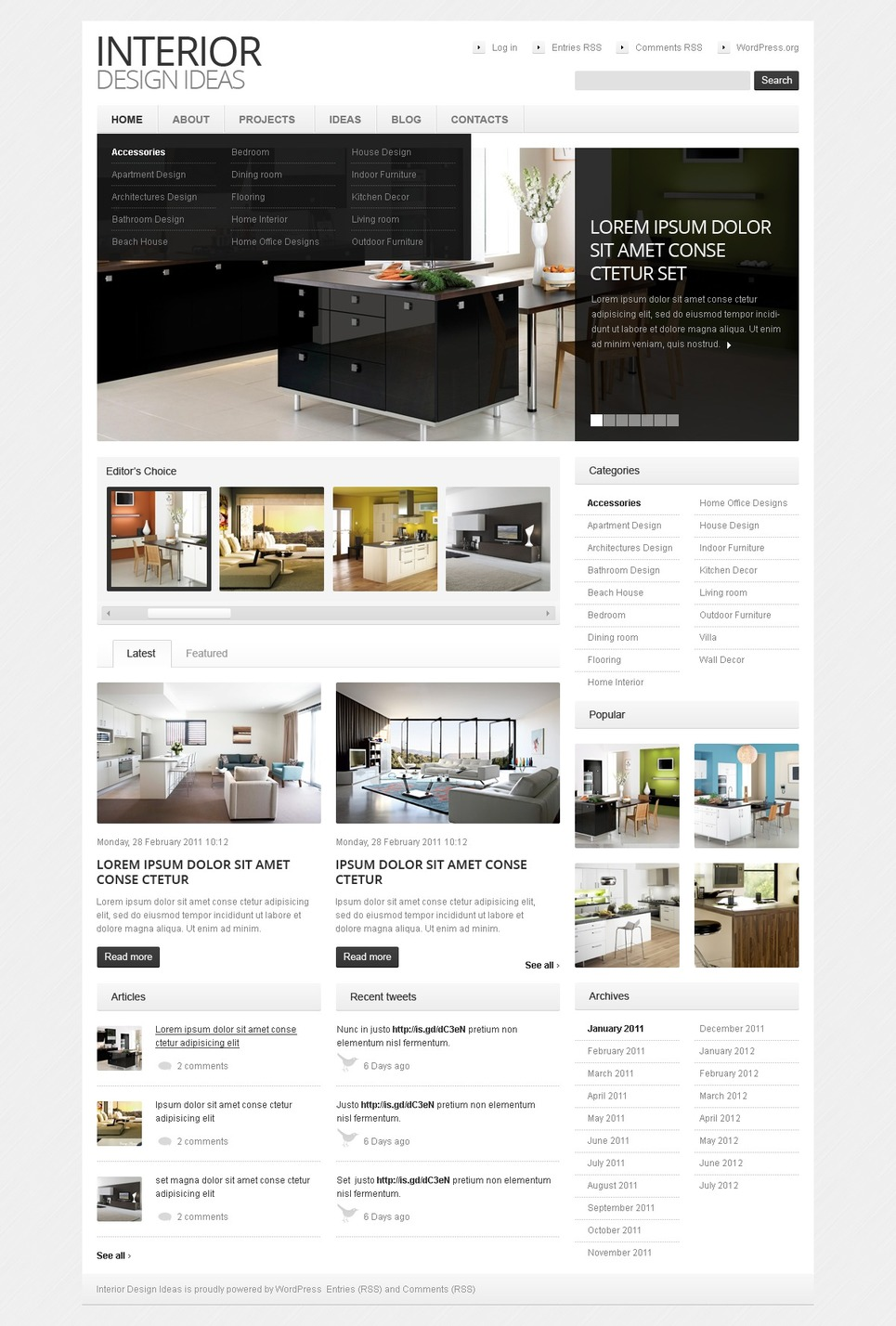 Interior Design Wordpress Theme 38637