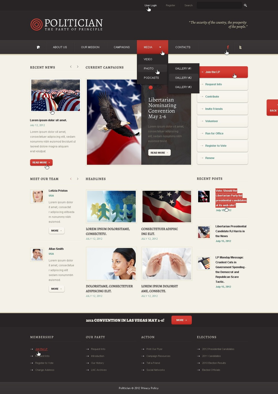 Political Party WordPress Theme New Screenshots BIG