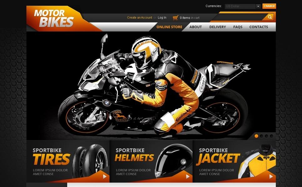 Bikers' Store VirtueMart Template New Screenshots BIG