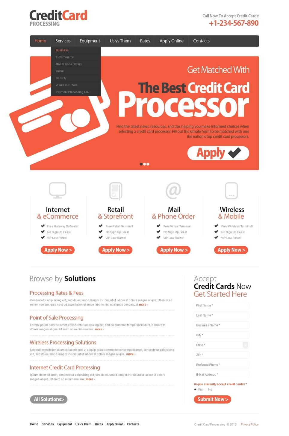 Bank Website Template New Screenshots BIG