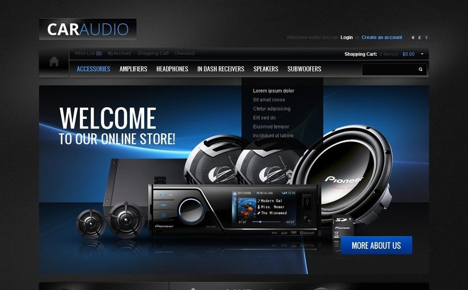 Car Audio Gear OpenCart Template New Screenshots BIG