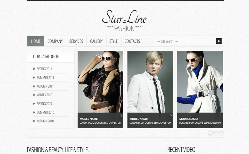 Fashion Website Template New Screenshots BIG