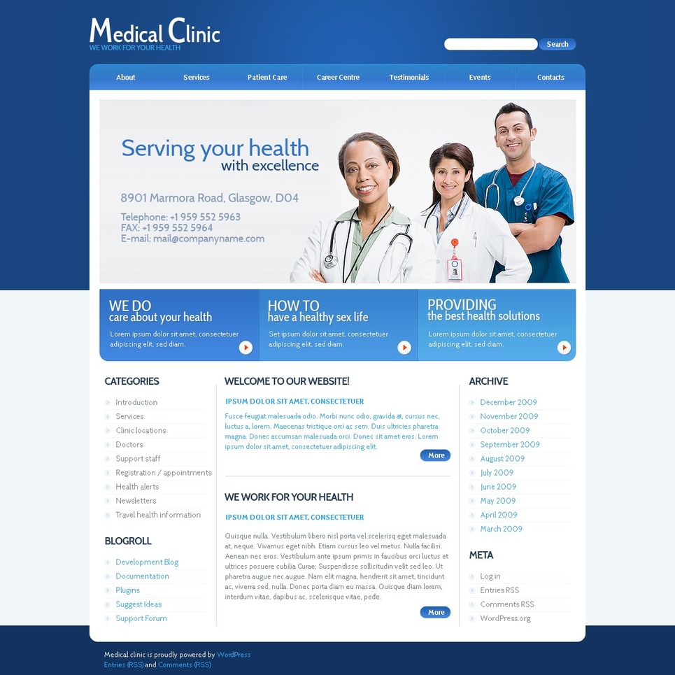 Medical Flash CMS Template New Screenshots BIG