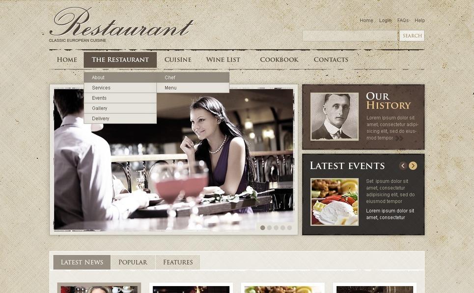 Cafe and Restaurant Flash CMS Template New Screenshots BIG