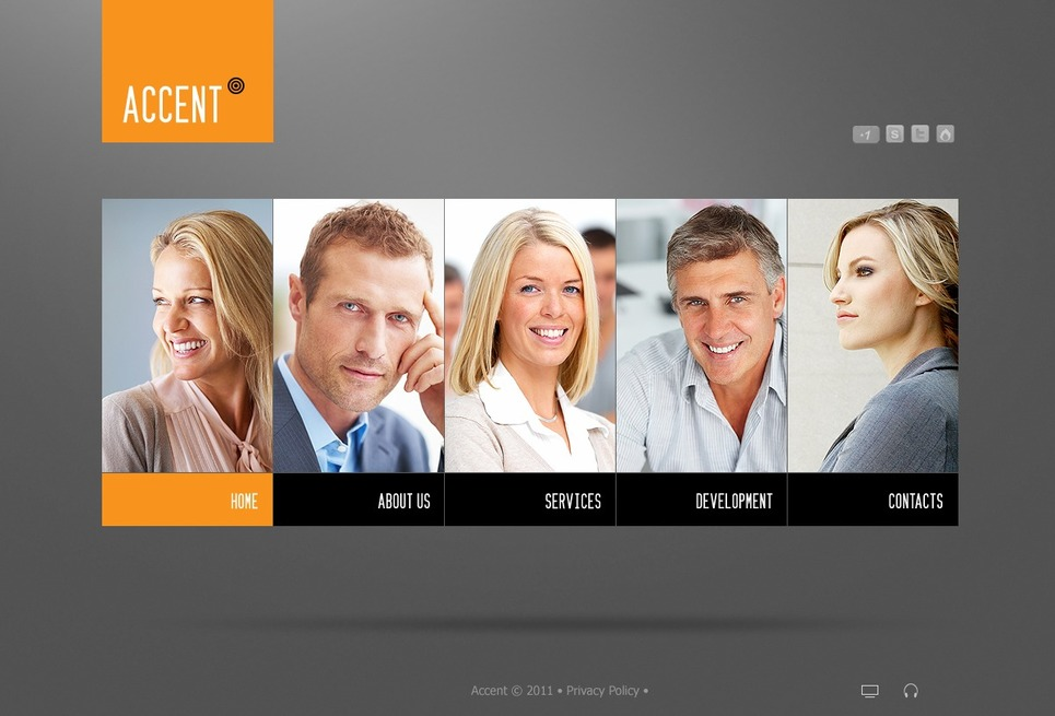 Business Flash CMS Template New Screenshots BIG