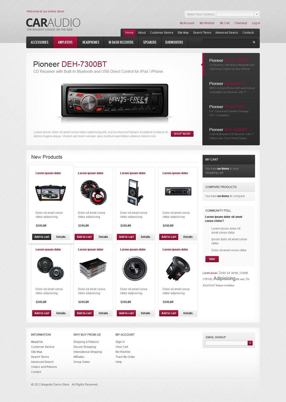 Car Audio Systems Magento Theme New Screenshots BIG
