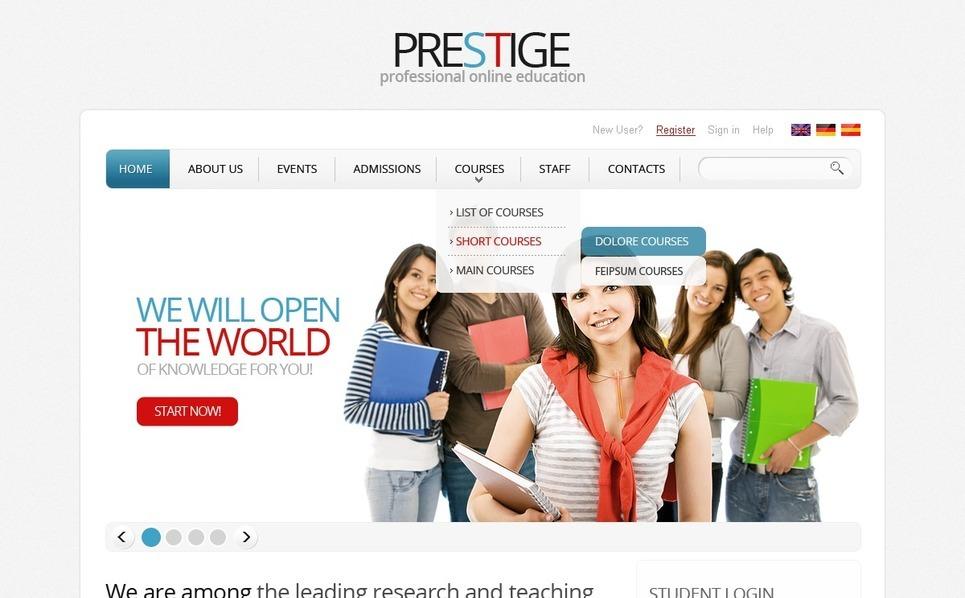 Career Education Responsive Website Template New Screenshots BIG