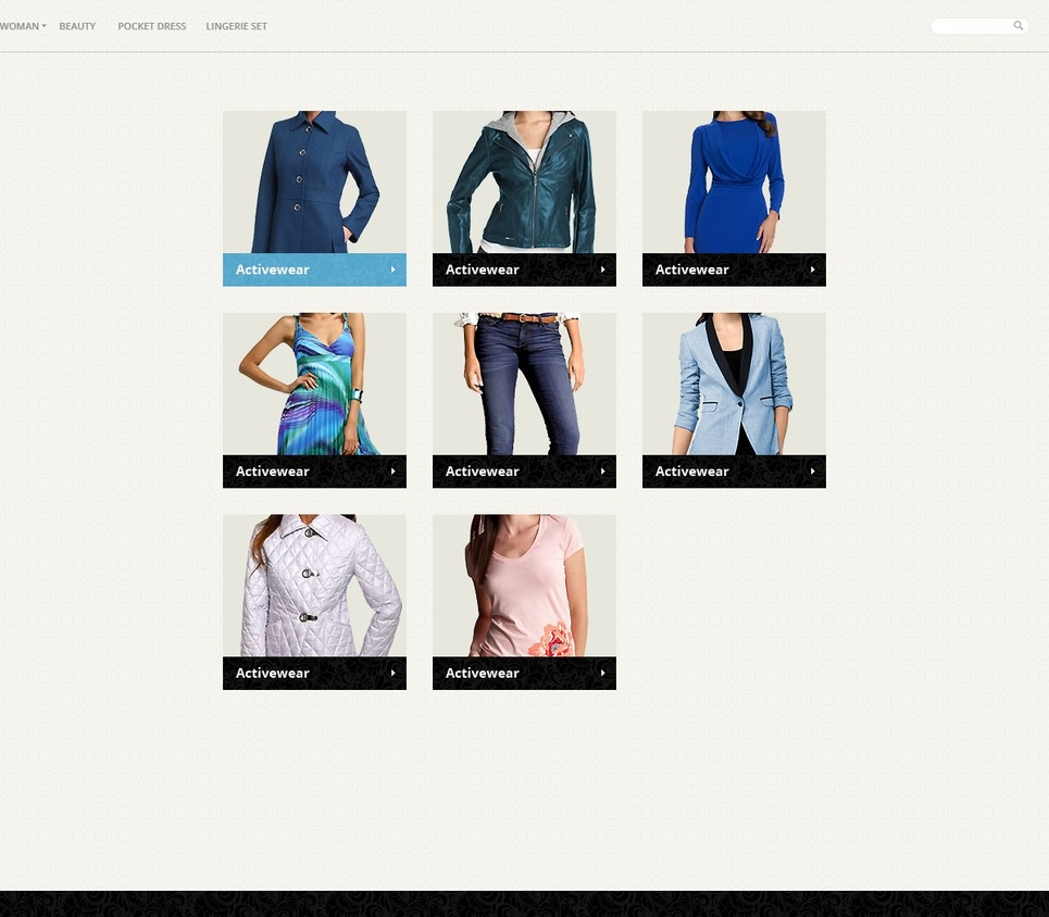 Glamorous Clothes PrestaShop Theme New Screenshots BIG