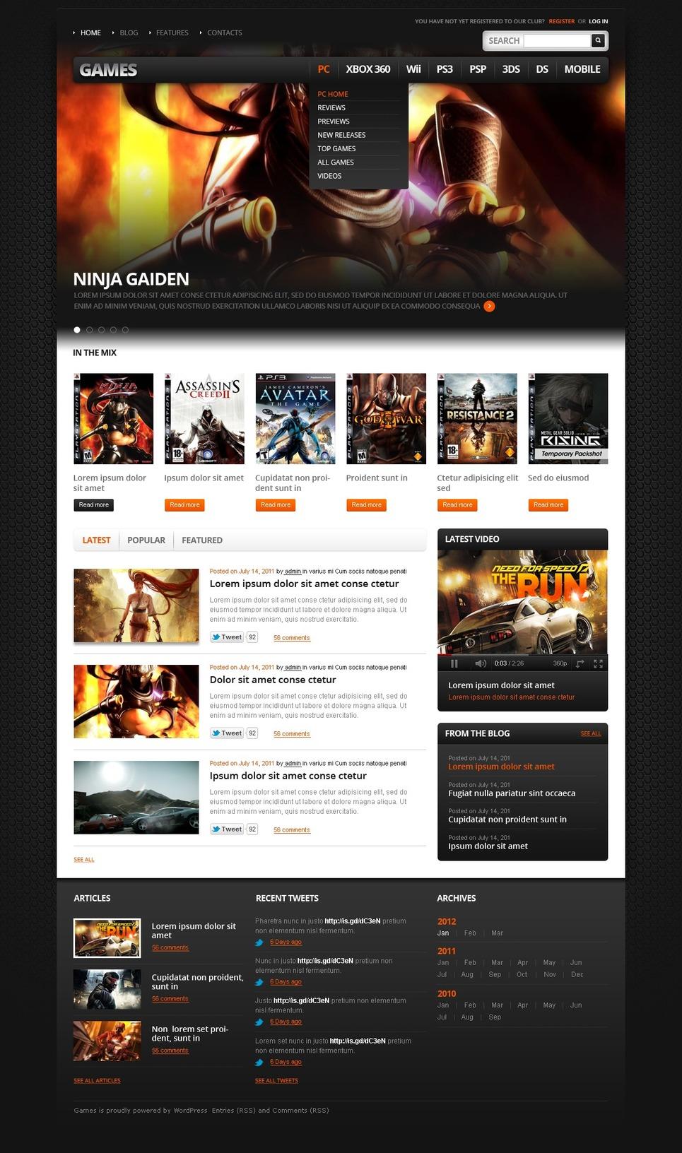 Game Portal WordPress Theme New Screenshots BIG