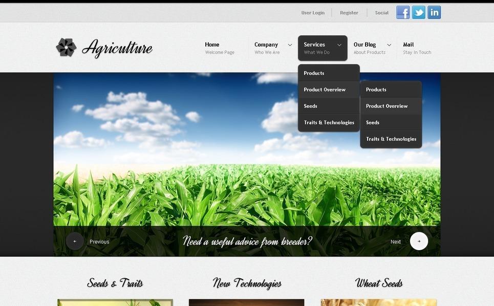 Agriculture Drupal Template New Screenshots BIG